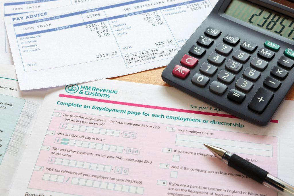 hmrc documents due a tax refund